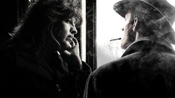 Frau und rauchender Mann im Gespräch