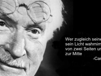 Carl Gustav Jung mit Brille auf der Stirn