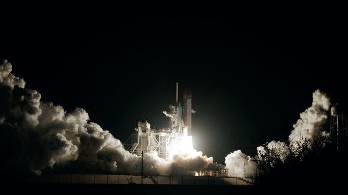 Spaceshuttle beim Start