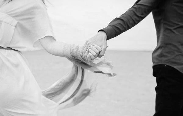 Pärchen, Hand in Hand